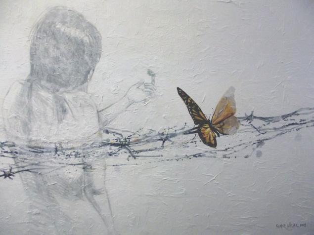 """Soner Göksay / """"Trace 2"""" / 80 x 110 cm./ Tuvale Yağlıboya / 2013"""
