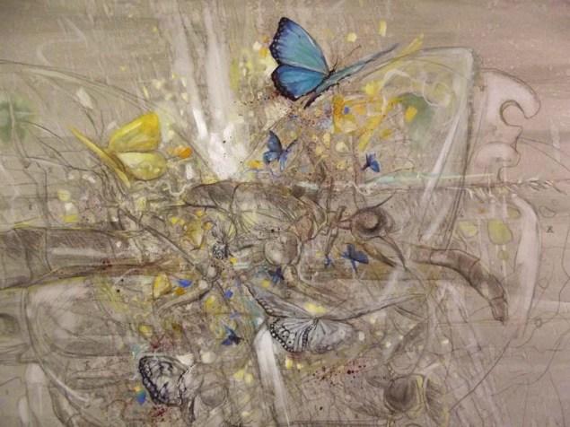 """Soner Göksay / """"Yaşamın Kodları"""" / Tuval Üz. Yağlıboya / 110 x 110 cm / 2013"""