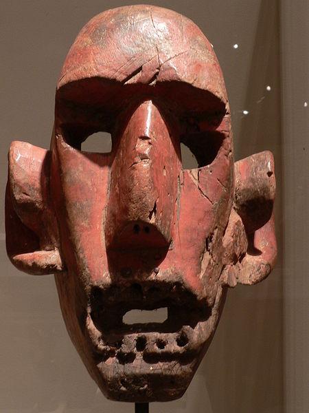 Afrika / Ölüler Atalar ; Kadın Maskı / Ahşap
