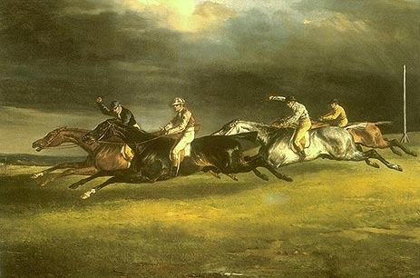 Gerıcault / Epsom Derby / 1821 / Yağlıboya / 92 x 123 cm / Louvre , Paris