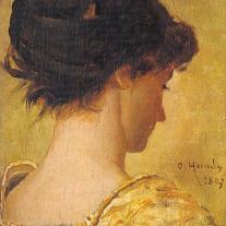 genç kadın portresi