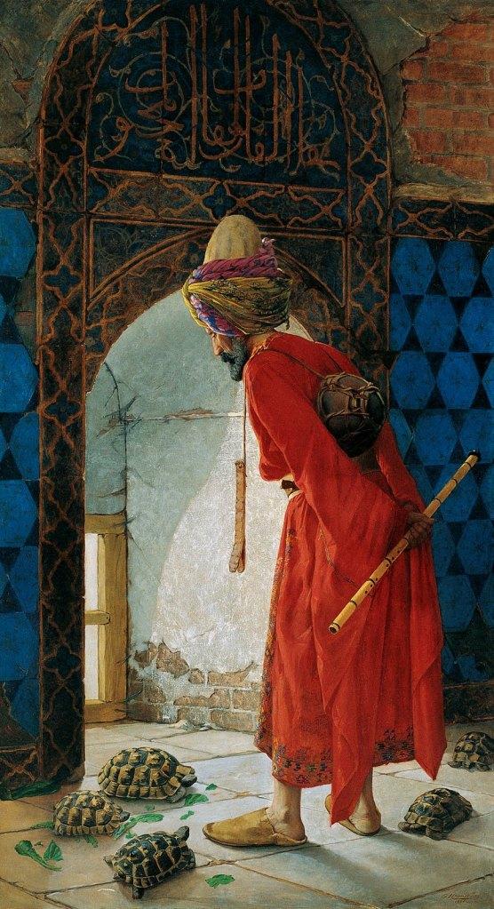 Kaplumbağa Terbiyecisi ( 1. Versiyon ) 1906 / Tuvale Yağlıboya / 222 x 122 cm / Pera Müzesi İstanbul.