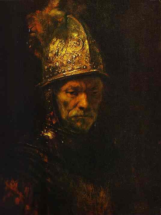 Rembrandt / Altın Miğferli Adam / 1650