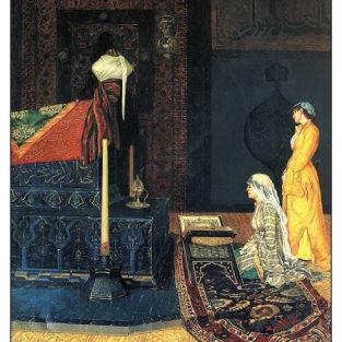 türbe ziyaretinde iki genç kız