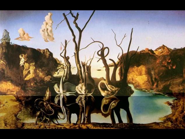 Dali kompozisyonları; bilinçaltının oyunlarından kaynaklanmış, bildik ögelerin, akıl dışı birlikteliğinden oluşan planlı çalışmalardır.