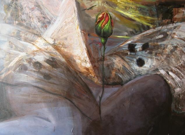 """""""Karganın Üç Filizi"""" / sONER gÖKSAY / 1998 / Tuval üz. Yağlıboya / 70 x 100 cm"""