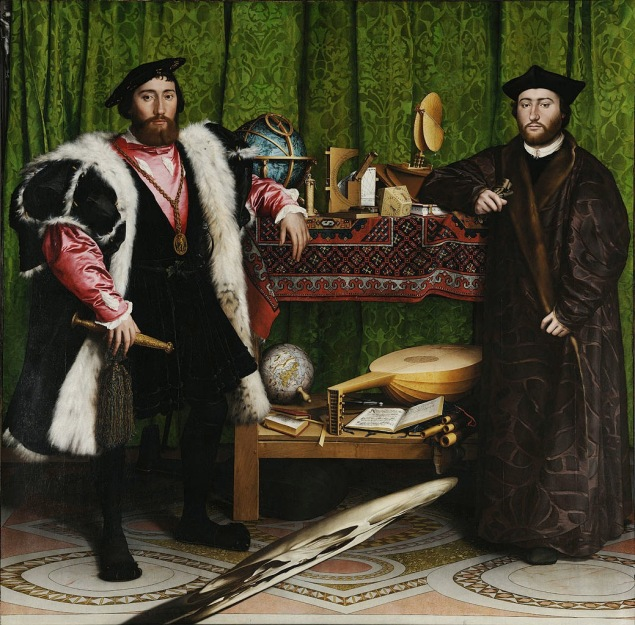 Hans Holbein; The Ambassadors / 1533 / Meşe üzerine tempera / National Museum London