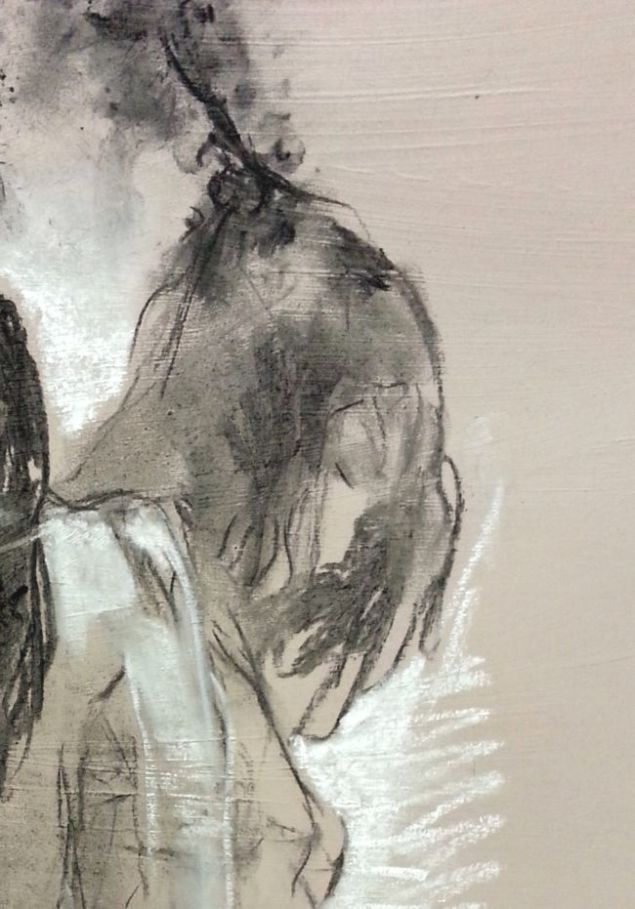 üçlü ( ayrıntı) / 70 x 100 cm / 2014