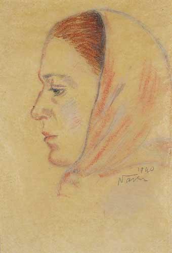 Piraye, 1940 / Kağıt üz.pastel 11x16 cm.